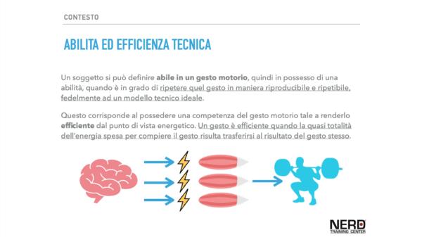 abilità ed efficienza tecnica